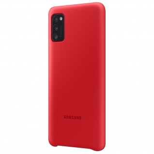 Original Samsung Soft Touch Cover Silikon für Samsung Galaxy A41 - Rot