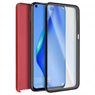 Schutzhülle für Huawei P40 Lite, Vorder- + Rückseite ? Rot