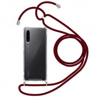 Handykette Handyhülle mit Halsband für Huawei P30 - Rot