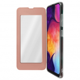 Spiegel Hülle, dünne Klapphülle für Samsung Galaxy A50 - Rosegold