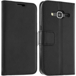 Flip-Schutzhülle für Samsung Galaxy Core Prime/ Galaxy Core 2 - Schwarz