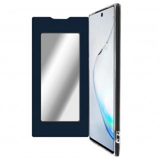 Spiegel Hülle, dünne Klapphülle für Samsung Galaxy Note 10 - Dunkelblau