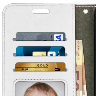 Flip Cover Stand Case Brieftasche & Standfunktion für Huawei P20 - Weiß - Vorschau 3