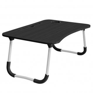 Betttisch für Laptops / Smartphones /Tablets, Höhe 26cm klappbare Füße ? Schwarz