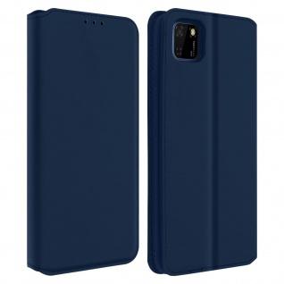 Kunstleder Cover Classic Edition Huawei Y5p - Blau