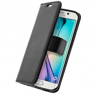 Flip-Schutzhülle mit Standfunktion für Samsung Galaxy S6 Edge - Schwarz