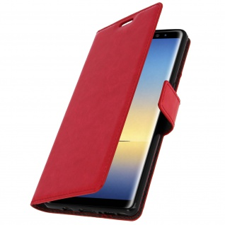 Flip Cover Stand Case Brieftasche & Standfunktion für Galaxy Note 8 - Rot