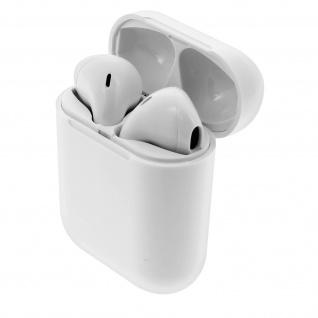 Bluetooth in-ear Kopfhörer, kabellose Kopfhörer mit Ladecase - Weiß