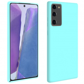 Halbsteife Silikon Handyhülle Samsung Galaxy Note 20, Soft Touch - Blau