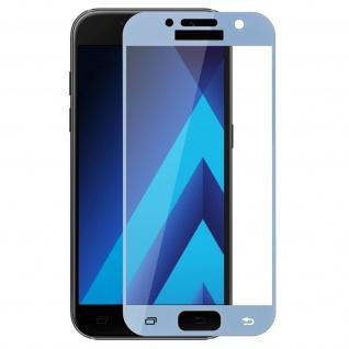 9H Displayschutzfolie aus gehärtetem Glas Samsung Galaxy A3 2017 - Rand Blau