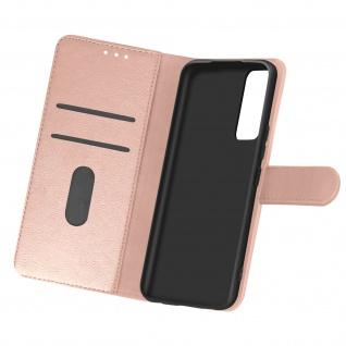 Flip Cover Geldbörse, Etui Kunstleder für Samsung Galaxy A02s ? Rosegold