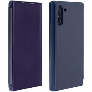 Samsung Galaxy Note 10 Flip Cover mit Spiegeleffekt & Standfunktion - Dunkelblau