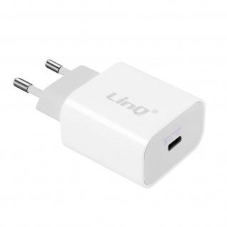 USB-C Power Delivery 18W Schnellladegerät, Wand-Ladegerät, LinQ - Weiß