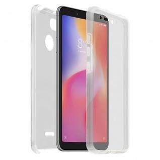 Schutzhülle für Xiaomi Redmi 6A, Vorder- + Rückseite Polycarbonat - Clear