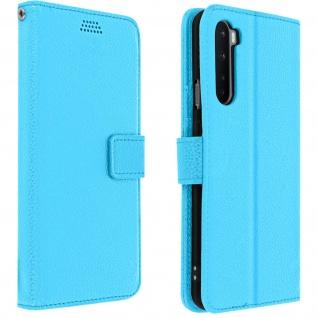 OnePlus Nord Flip-Cover mit Kartenfächern & Standfunktion - Blau