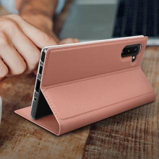 Klappetui mit Kartenfach & Standfunktion Samsung Galaxy Note 10 - Rosegold - Vorschau 5