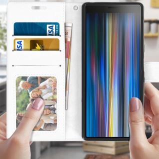 Flip Stand Cover Brieftasche & Standfunktion für Sony Xperia 10 - Weiß - Vorschau 3