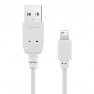 USB 2.0 Apple Lightning Ladekabel, Quick Charge Aufladen & Sync. 1.2 m - Weiß