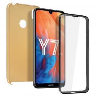 Schutzhülle für Huawei Y7 2019, Vorder- + Rückseite ? Gold