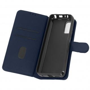 Flip Cover Geldbörse, Etui Kunstleder für Xiaomi Redmi Note 10 Pro â€? Dunkelblau