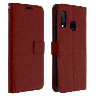Flip Cover Stand Case Brieftasche & Standfunktion Samsung Galaxy A20e - Braun