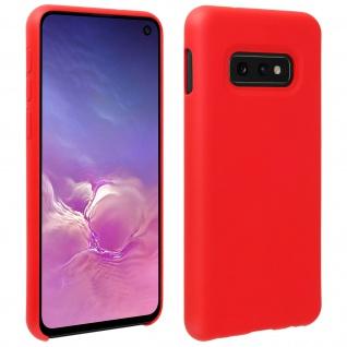 Halbsteife Silikon Handyhülle Samsung Galaxy S10e, Soft Touch - Rot