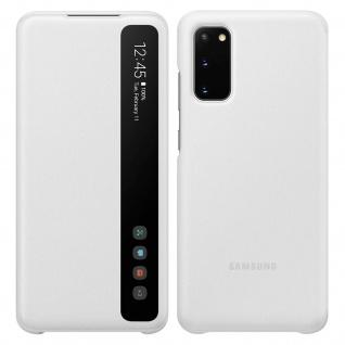Original Samsung S View Wallet Cover, Klapphülle für Samsung Galaxy S20 - Weiß