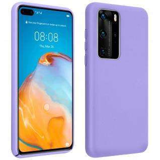 Halbsteife Silikon Handyhülle Huawei P40 Pro, Soft Touch - Violett