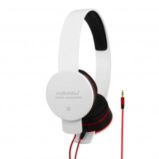 Kabelgebundene Stereo-Kopfhörer mit 3, 5mm Klinkenkabel Hohe Klangqualität Weiß