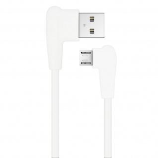 Inkax USB-Kabel mit Micro-USB Stecker 2.1A 90 Grad abgewinkelt - Weiß