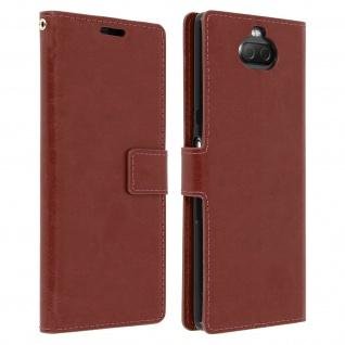 Flip Stand Cover Brieftasche & Standfunktion für Sony Xperia 10 - Braun