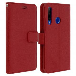 Honor 20 Lite Flip-Cover mit Kartenfächern & Standfunktion â€? Rot