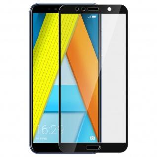 9H kratzfeste Glas-Displayschutzfolie für Honor 7A, Huawei Y6 2018 - Schwarz