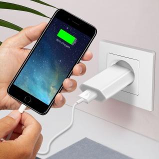 USB Wand Ladegerät + MFI iPhone/iPad Ladekabel (iPod, iPhone) ? Weiß - Vorschau 5