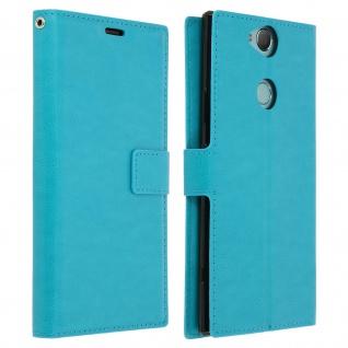 Flip Stand Cover Brieftasche & Standfunktion für Xperia XA2 Plus - Türkisblau
