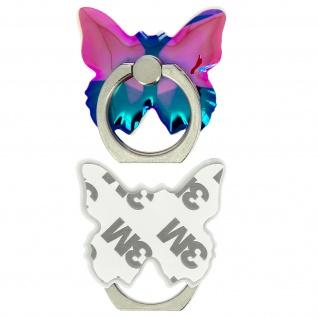 Schmetterling Ring Halterung für Smartphones, 360° drehbare Halterung - Rosa