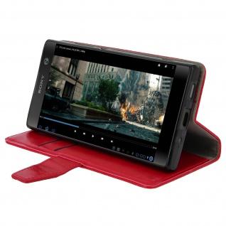 Flip Cover Stand Case Brieftasche & Standfunktion für Sony Xperia XA2 - Rot - Vorschau 4
