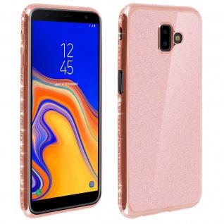 Schutzhülle, Glittery Case für Galaxy J6 Plus, shiny & girly Hülle - Rosegold
