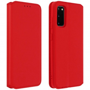 Kunstleder Cover Classic Edition Samsung Galaxy S20 - Rot
