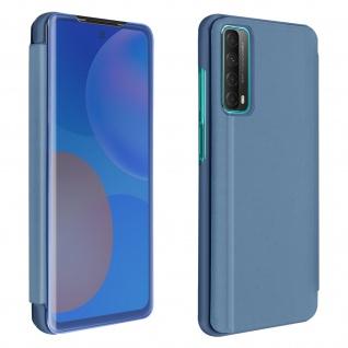 Huawei P Smart 2021 View Cover mit Spiegeleffekt & Standfunktion � Blau