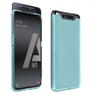 Schutzhülle, Glitter Case für Samsung Galaxy A80, shiny & girly Hülle - Blau