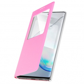 S-View Flip Cover mit Sichtfenster & Kartenfach für Galaxy Note 10 - Rosa - Vorschau 2