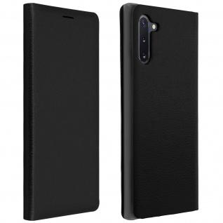 Flip Book Cover, Klappetui aus Kunstleder für Samsung Galaxy Note 10 - Schwarz