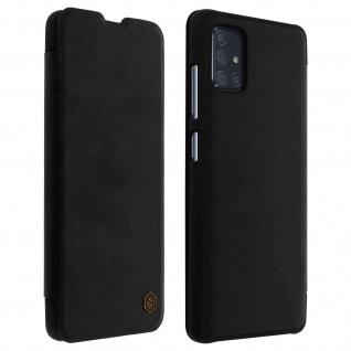 Qin Nillkin Series Leder Cover mit Kartenfach Samsung Galaxy A71 � Schwarz