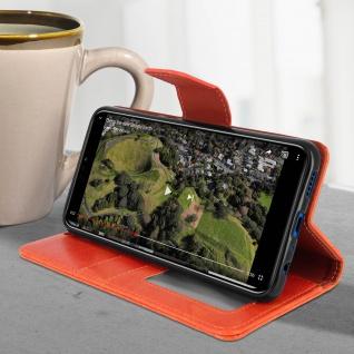 Flip Stand Cover Brieftasche & Standfunktion Huawei Honor 8X - Orange - Vorschau 4