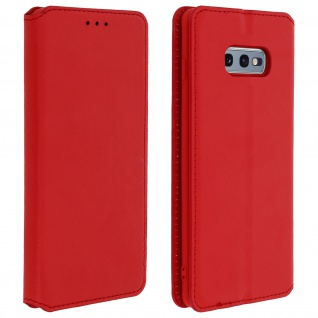 Flip Kunstleder Cover Geldbörse Classic Edition Samsung Galaxy S10e - Rot