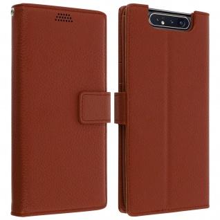 Samsung Galaxy A80 Flip-Cover mit Kartenfächern & Standfunktion - Braun