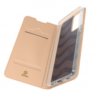 Klappetui mit Kartenfach & Standfunktion Samsung Galaxy A72 ? Rosegold