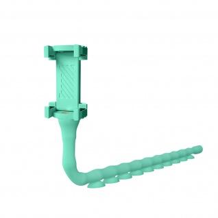 Flexible Minzgrüne Smartphone Halterung mit Saugnäpfen