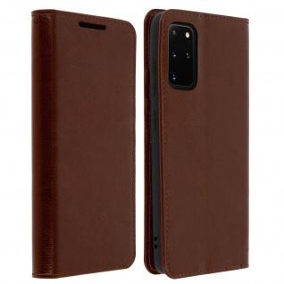 Business Leder Cover, Schutzhülle mit Geldbörse Samsung Galaxy S20 Plus - Braun